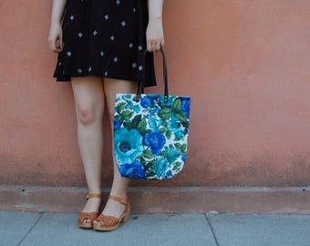 Floral Boho Tote Bag, Womens Tote Bag, Eco Friendly Bag, Modern Bohemian Summer Tote Bag, Everyday Carry All Bag, Gift Women, Floral Bag