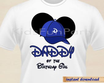 Disney Daddy of the Birthday Girl Minnie Earsl - INSTANT DOWNLOAD - Birthday Girl - Minnie Mouse the First Party Favors