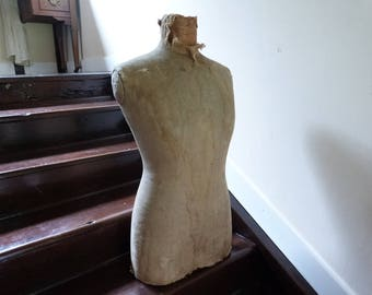 Layaway Part 3 For Joven- Antique French Mannequin Bust 1920s Tailors Dress Makers Dummy Body Only