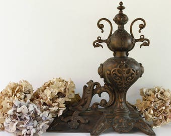 French Antique Andiron....Fire Dog...Chenet...Bookend....Door Stop....Home Decor....Paris Apartment.....Shabby Chic.....Nordic Living.
