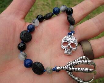 Odin Mini Prayer Strand - Pocket prayer beads, travel prayer beads, pagan prayer beads - Norse god of inspiration, battle, and death