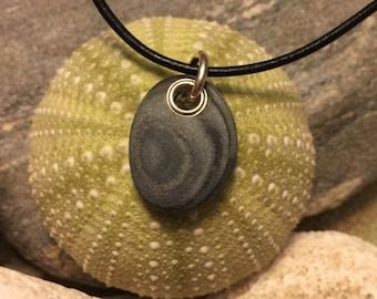 Beach stone jewelry- beach stone necklace