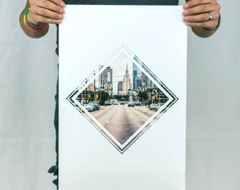 Deep Ellum Streets - Geometric Photo Poster Print