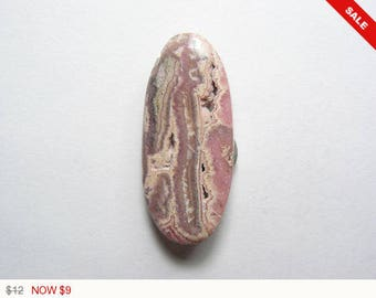 Pink Rhodochrosite with druzy pockets, designer cabochon, gemstone cabochons, flat back cabochons, natural stone cabochons (rh007)