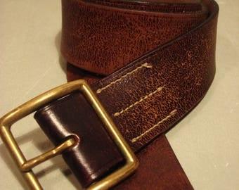 Vintage 1990s RALPH LAUREN Distressed Leather Belt
