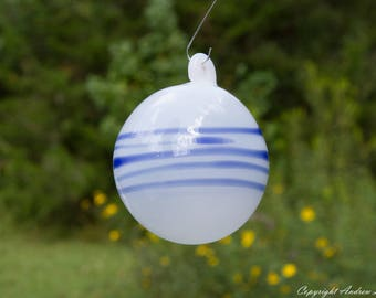 OOAK Hand blown Borosilicate Glass Christmas ornament O127