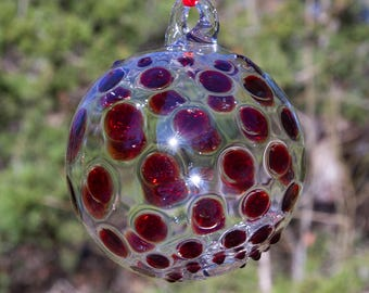 OOAK Hand blown Borosilicate Glass Christmas ornament 236