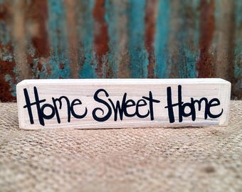 Home Sweet Home Block Sign