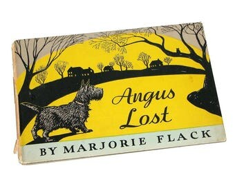 "Vintage 1942 ""Angus Lost"" Illustrated Children's Book by Marjorie Flack"