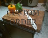 Custom Order for jessicalagerstedt -Extra Large End Grain Chopping Board - Oak - Wooden Cutting Board - Chopping Block - Butchers Block