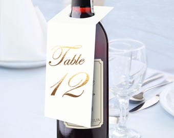 Red Wine Wedding Table Number Signs, Golden Print Numbers Table Cards, Tented Table Decor, Tented Table Numbers