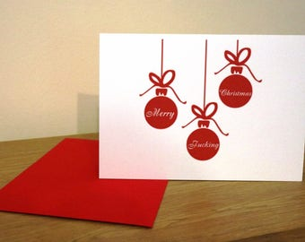 Christmas card - rude, offensive