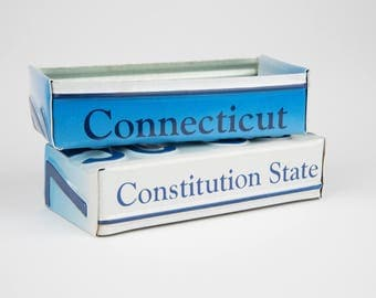 Connecticut license plate box - father's day gift - gift ideas for dad - gifts for dad - gift for mom's dad's and grad's - graduation gift