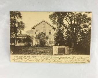 Eli Whitney House Postcard 1905 Raphael Tuck Westborough MA Rare Beauty