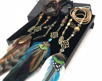 Multicolored Feather Hair Braider Set #2
