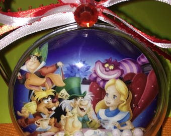 Alice and wonderland themed ornament