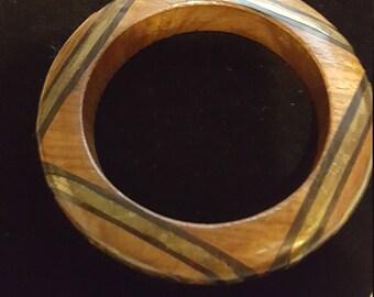 Wood and Bras Vintage Bracelet