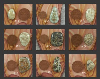 Variscite Cabochon - Natural Loose Stones - Jewelry Making Supplies - Hand Cut Nevada Mineral Cabs and Gemstones