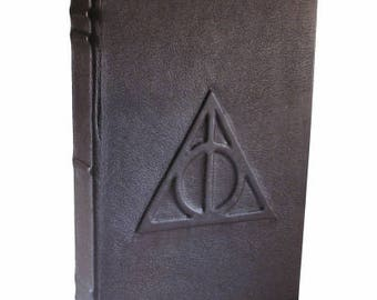 Deathly Hallows - Blank Leather Journal or Sketchbook