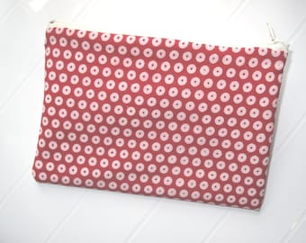 Red and white makeup organizer Cosmetic case