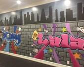 Graffiti Mural, Canvas Mu...