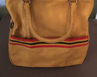 Vintage 1970s Amelia Earhart Travel Bag Suitcase Mustard Gold