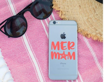 Mer Mom Decal, Mer Mom, Car Decal, Laptop Decal, Mermaid Decal, Starfish Mer Mom, Vinyl Decal, Mer Mom Decal, Vinyl Decal, Mermaid