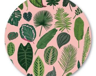 Foliage on Pink Pot Stand/Trivet