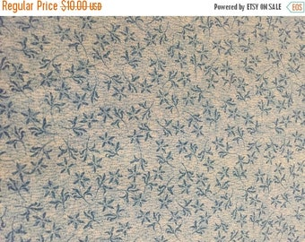 CIJ2017 Vintage Calico, Cotton Fabric, Small All-Over Print, Blue