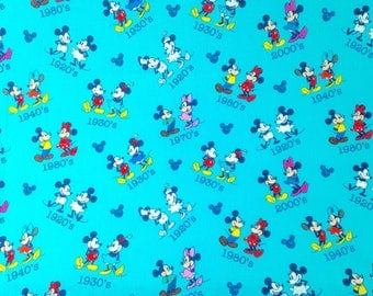 Mickey and Minnie Toss Fabric - Vintage Mickey and Minnie - cotton fabric - Springs Creative -  CC-06