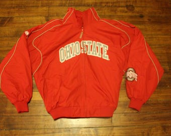 Ohio State fall jacket majestic NCAA baseball basketball waterproof coat Large