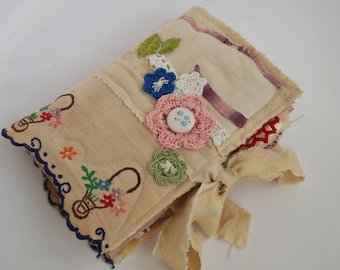 Fabric Covered Vintage Journal