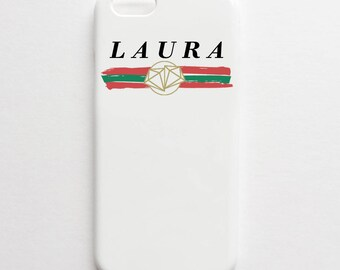 Fashion Trash Monogram logo phone case - Gucci inspired, fashion logo phone case, iPhone 7 PLUS case, Samsung S8 PLUS case, iPhone 6 case
