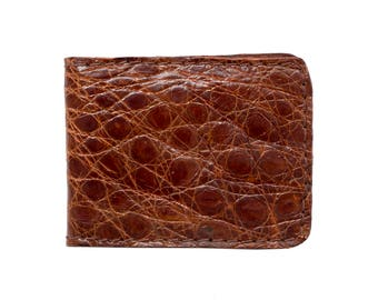 Alligator Wallet, Bifold, Leather Bifold, Billfold, Men's Wallet