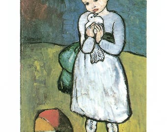 Pablo Picasso-Child with Dove-1997 Poster