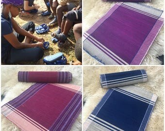 Handwoven placemats and table runner