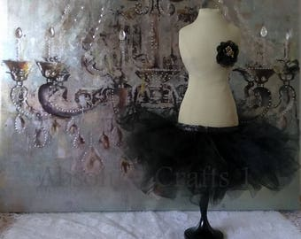 Centerpiece, Tutu Mannequin, Dress Form, Vanity Table Decor, Mannequin, Handmade, Baby Shower, Bridal Shower, Jewelry Holder, Black Tutu
