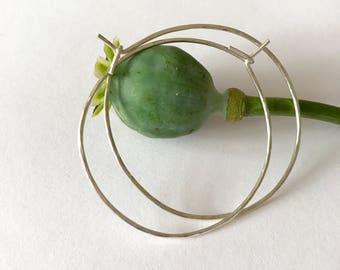 NEW Lightly hammered silver hoop earrings, textured hoops, fine hoop earrings, silver hoops, sterling silver hoops