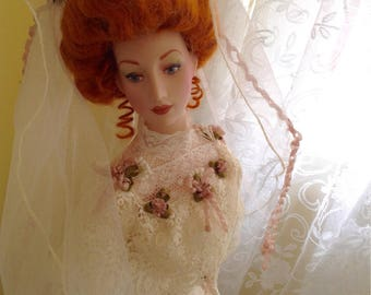 Vintage Franklin mint anniversary Gibson bride doll