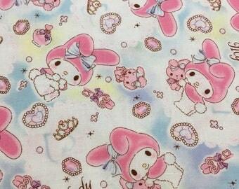 Cute Sanrio My Melody -  Japanese Fabric Half Yard