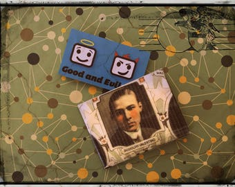 Rudolph Valentino, Latin Lover, Good and Evil Creations, Vintage Actors, Duct tape wallet,
