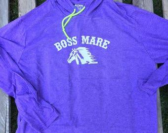 Boss Mare Hoodie // Horse shirt // Horse hoodie // Equestrian hoodie // Equestrian shirt // Horse gift idea // Horse lover //