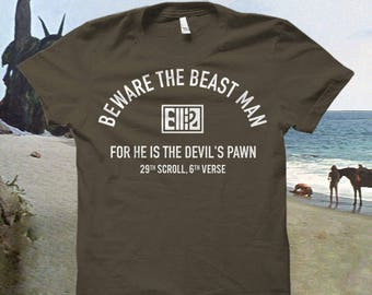 "Planet of the Apes Tshirt ""Beware the Beast Man..."""