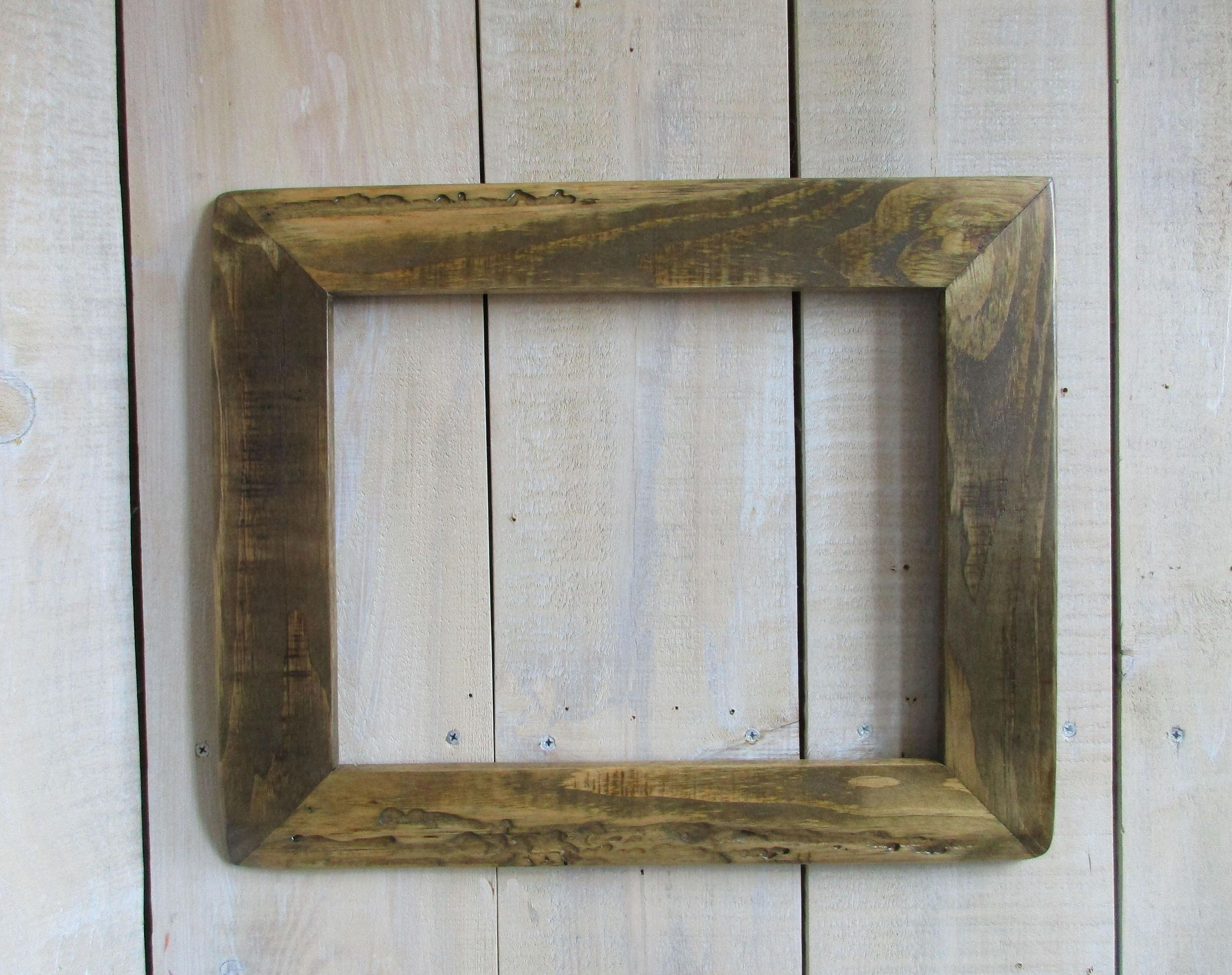 Rustic Furniture Stain Handmade Rustic Wood Frame 11 X 14 Live Edge Wood Driftwood