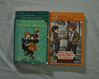 Two Great Brain Books by John D Fitzgerald