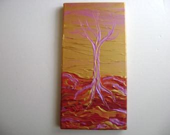 Vermillion - Original Acrylic Painting - Stretched Canvas -  8 x 16