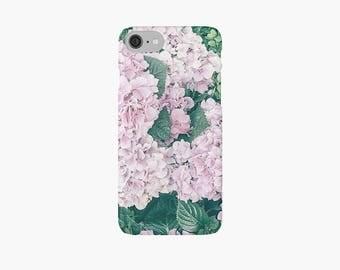 Hydrangea iPhone 7 case, Green Floral iPhone 7 case, iPhone 7 plus case, flowers, pretty iPhone case, iPhone 6 case