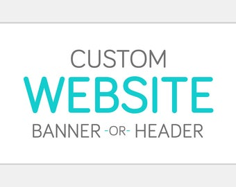 Custom Web Blog BANNER or HEADER Design | Personalized Professional Storefront or Personal Page Graphic | Retail Small Business Blogging
