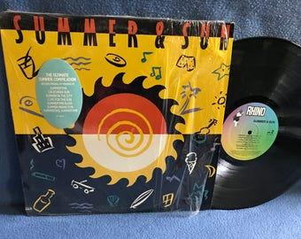 "Vintage, ""Summer & Sun"" Vinyl LP, Record Album, Rock Compilation, Original First Press, The Beach Boys, Sly And The Family Stone, WAR"
