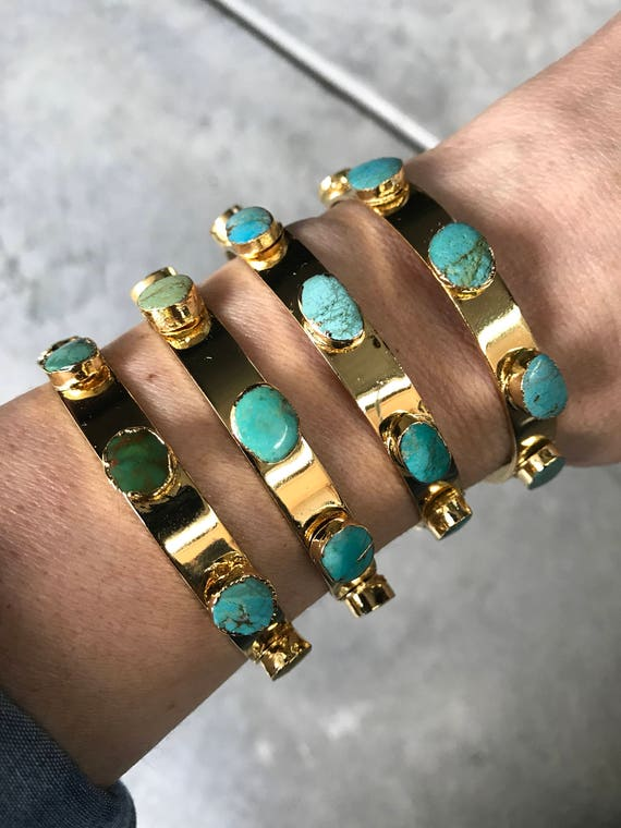 Turquoise Cuff Bracelets, Turquoise Jewelry, birthstone jewelry, December Birthstone, boho jewelry
